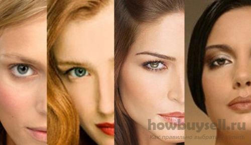 Цвет краски для волос по цвету кожи