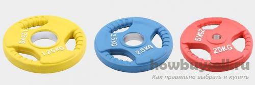 выбор весов (дисков) для гантелей