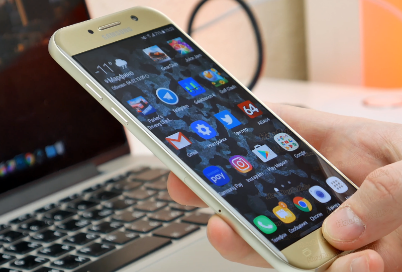 экран смартфона Samsung Galaxy А5 2017